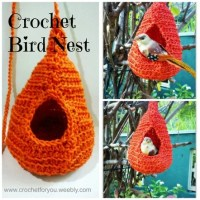 Crochet Bird Nest by Erangi Udeshika of Crochet For You