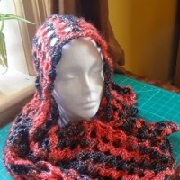 Simple Enough Hood Scarf/Shawl ~ Jennifer Gregory - Niftynnifer's Crochet & Crafts