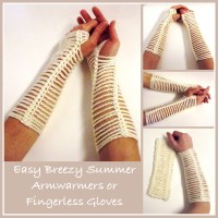 Easy Breezy Armwarmers by CrochetN'Crafts