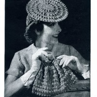 Hoop Hat, Snood & Carry All ~ Vintage Pattern on Donna's Crochet Designs