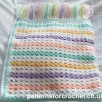 Colorful Afghan Blanket by Patterns For Crochet