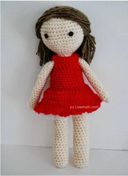 Amigurumi Doll Patterns : Blue little crochet dolls dress free crochet pattern
