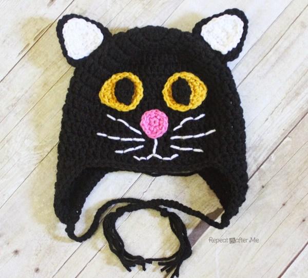 Crochet Black Cat Hat Repeat Crafter