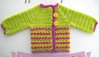 c74c8c6ac224 Eloise Baby Sweater ~ Video Tutorial
