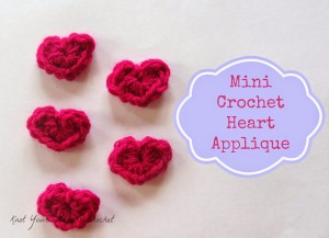 Red crocheted newborn hat with heart appliqué new ebay