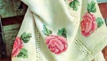 Rose Afghan ChartINSTANT DOWNLOAD pdfafghancrochetpattern