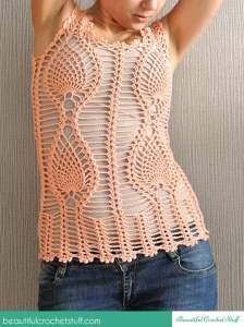 Pineapple Crochet Top ~ Jane Green - Beautiful Crochet Stuff