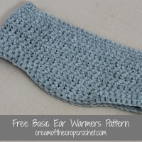 Basic Ear Warmers ~ Cream Of The Crop Crochet