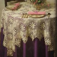 Antique Lace Tablecloth ~ MomsLoveOfCrochet.com