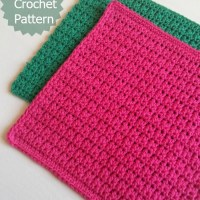 Easy Crochet Dishcloth ~ My Hobby is Crochet