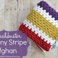Stashbuster Granny Stripe Afghan ~ The Stitchin' Mommy