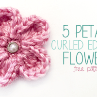5 Petal Curled Edge Flower ~ Rebecca Langford - Little Monkeys Crochet