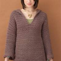 Hooded Pullover Crochet Pattern ~ Lion Brand Yarn - Favecrafts