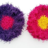 Scrubby Flower Dots ~ Snappy Tots