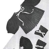 Crochet Baby Set #724 ~ Free Vintage Crochet