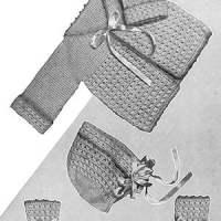 Crochet Baby Set #725 ~ Free Vintage Crochet