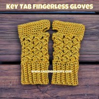 Key Tab Fingerless Gloves ~ Elisabeth Spivey - Calleigh's Clips & Crochet Creations