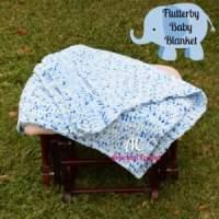 Flutterby Baby Blanket ~ American Crochet