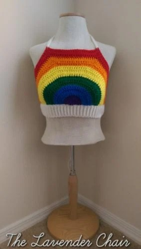 Rainbow Crop Top by Dorianna Rivelli of The Lavender Chair