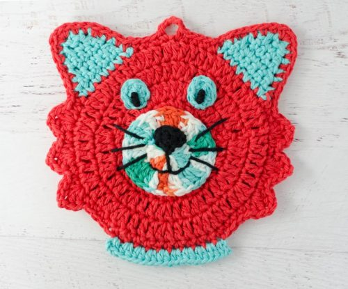 Cat Potholder by Crochet 365 Knit Too