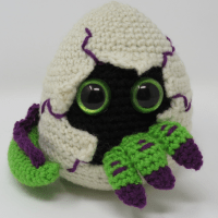 Hatching Dragon Egg Amigurumi by Kati Brown from Hooked by Kati