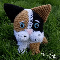 Blob Cat Amigurumi by Kati Brown from Hooked by Kati