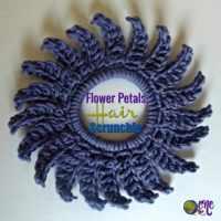 Flower Petals Crochet Hair Scrunchie by CrochetNCrafts