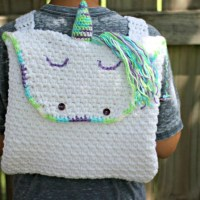 Unicorn Backpack by Amanda Saladin from Love Life Yarn