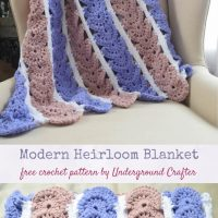 Modern Heirloom Blanket by Marie/Underground Crafter