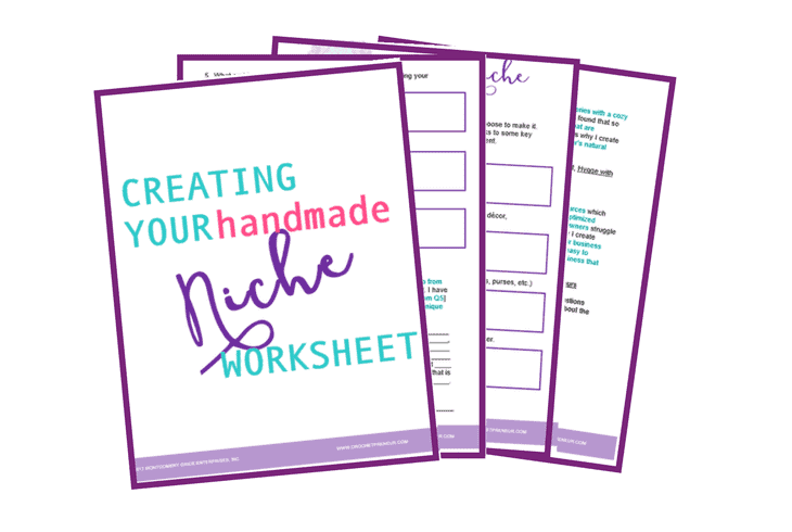 Graphic for Creating Your Handmade Niche Worksheet Printable
