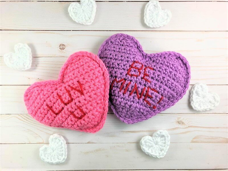 Free crochet pattern conversation hearts crochetpreneur free crochet pattern conversation hearts dt1010fo