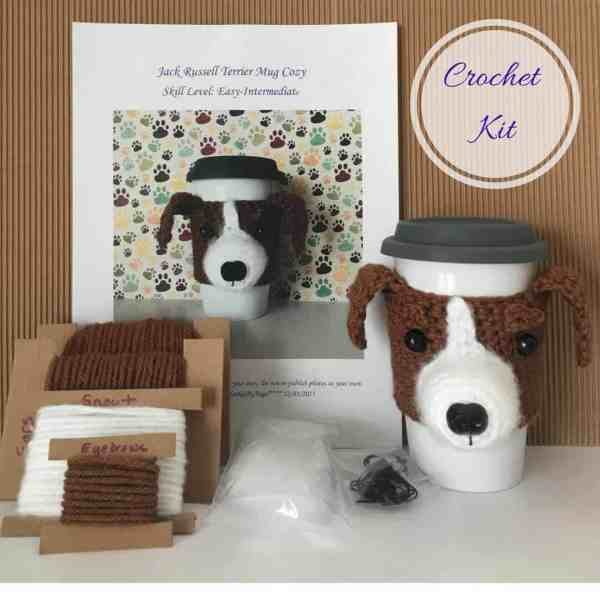 Jack Russell Crochet Kit from Hooked by Angel