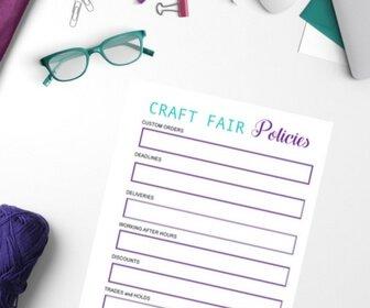 Craft Fair Policies Worksheet