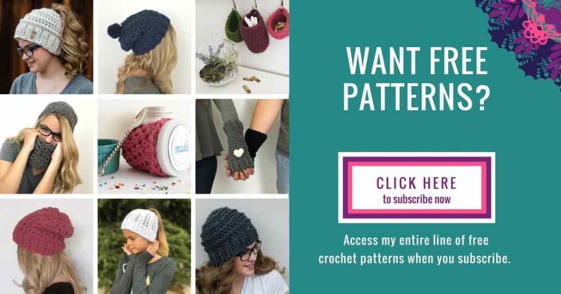 free crochet patterns subscribe form
