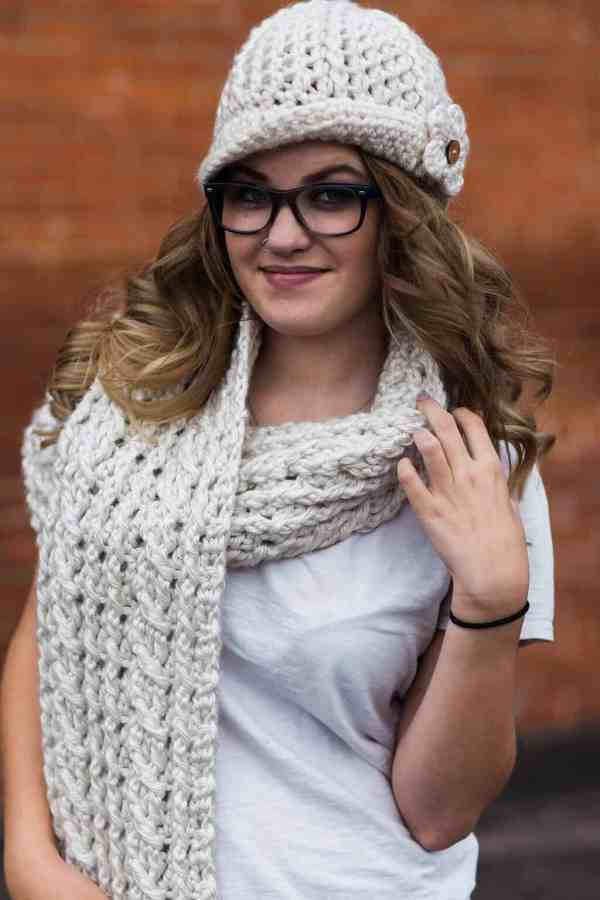 Ardara Oversized Cable Scarf