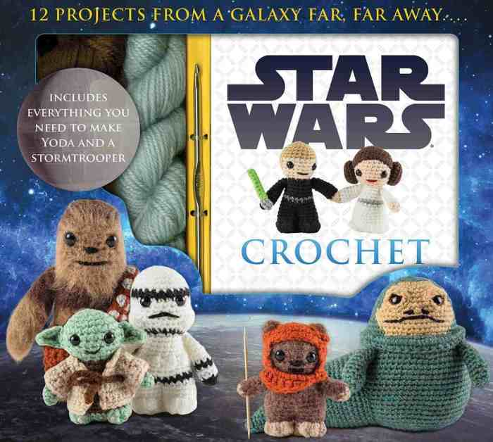 Photo of the cover and casing of the Star Wars Crochet Pattern Book