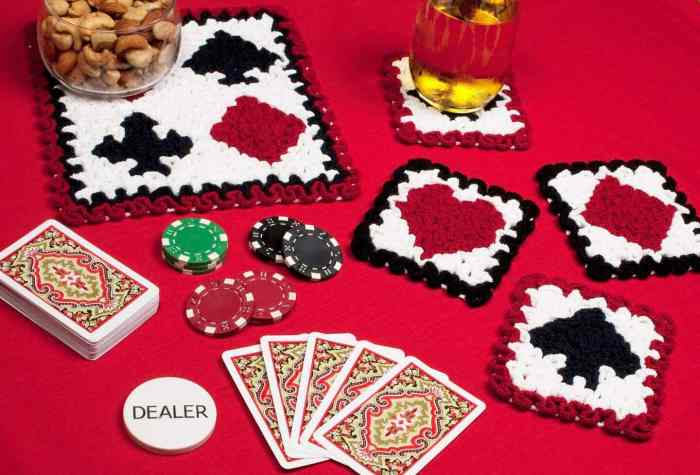 playing cards coaster crochet pattern