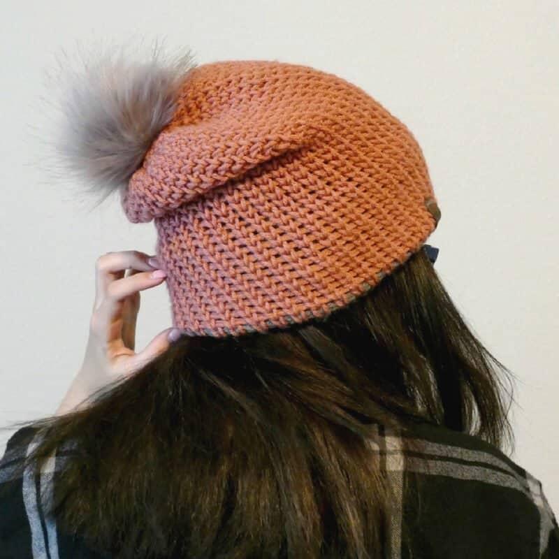 ac145958a24 Double Brim Knit-Look Beanie  Free Crochet Pattern - Crochetpreneur