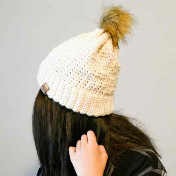 This bottom up double brim beanie crochet pattern creates such a delicate fabric...it's just lovely. I can't wait to make one in every color! #bottomuphat #doublebrimhat #doublebrimbeanie #crochetpattern #breckenridgebeanie #doublebrimbreck