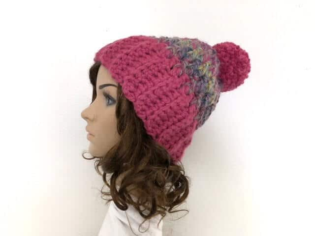Unisex Winter Hat on Model