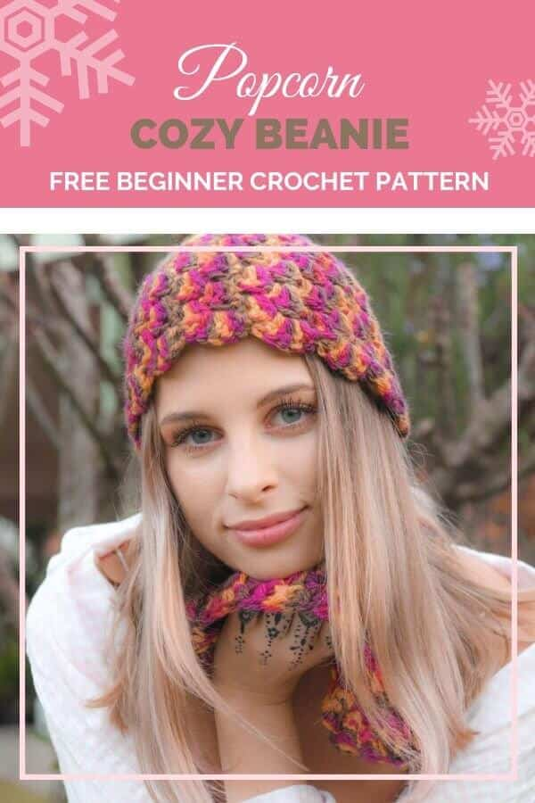 What a beautiful skullcap beanie from ReVe Design Co! This beanie was designed especially for the 30 Days of Cozy and you're going to love it! #30daysofcozy #revedesignco #fionalangtry #crochetbeanie #crochetskullcap #freecrochetpattern #freecrochetbeaniepattern #crochetpatterns