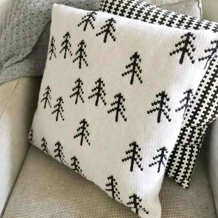 Nordic Tree Pillow Crochet Pattern