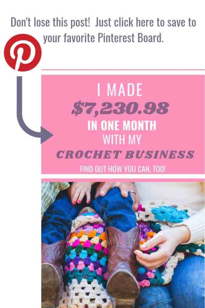 Image reminder to pin this graphic in your crochet related Pinterest boards