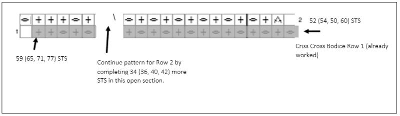 Image A for Criss Cross Top (Crochet Stitch Chart)