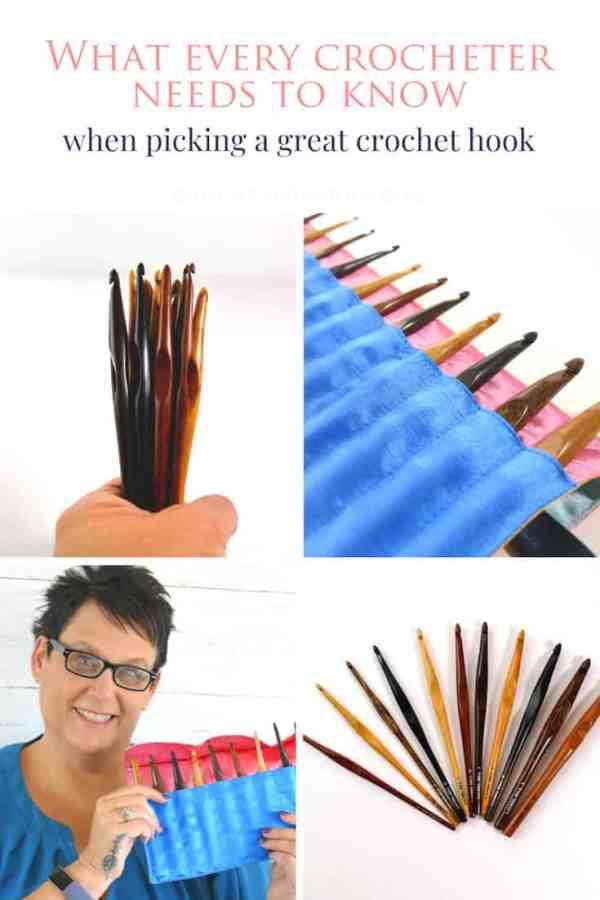 Pinterest image collage of laurel hill variety set of crochet hooks