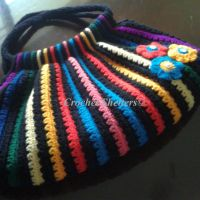 Multicolor Striped Crochet Bag