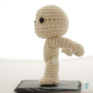 Crochet bobble head doll side