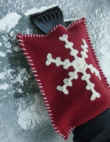 Snowflake Ice Scraper Mitt by Darleen Hopkin