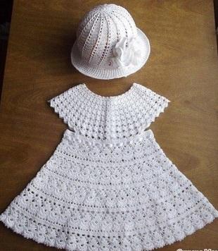 Vestido Crochet Niñas Esquemas De Ganchillo