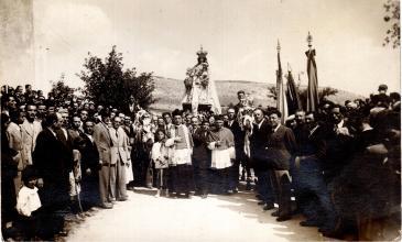 Don Matteo Brunetti ai festeggiamenti in onore della Madonna di Loreto dell'anno 1932